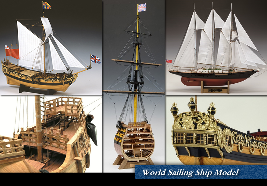World Sailing Ship, Tall Ship Model / Woody JOE
